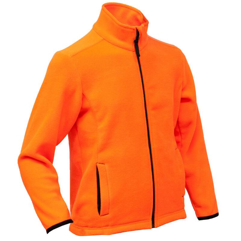Polaire chasse chaude 100 junior orange fluo