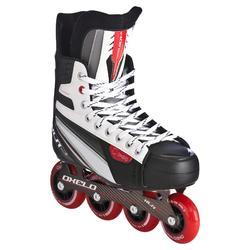Inlineskates XLR 3 voor hockey, volwassenen, lichtgrijs