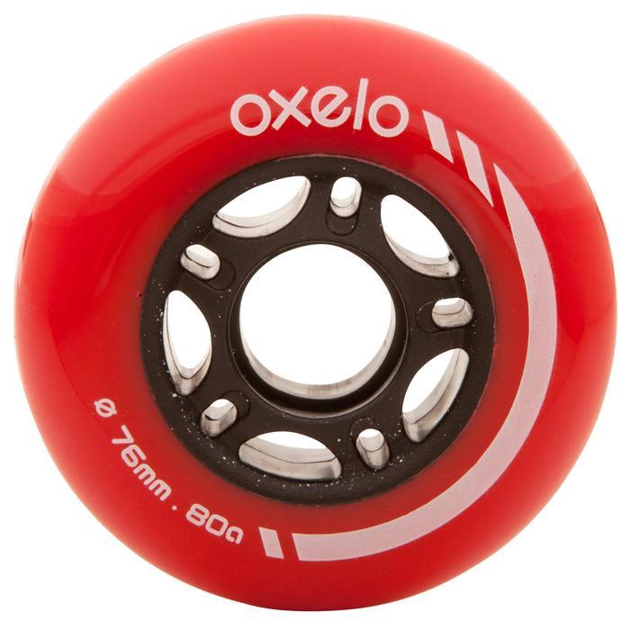 4 ruedas rollers 76 mm 80A