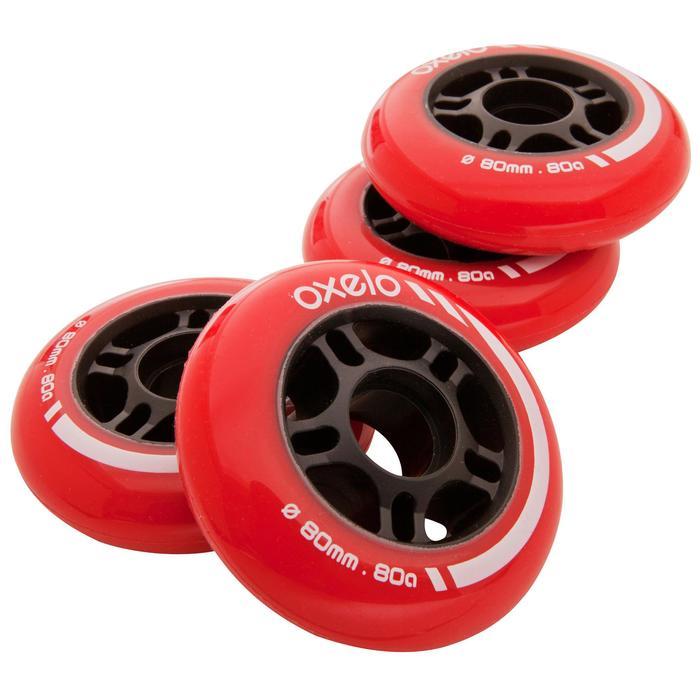 4 wielen voor inlinehockeyskates 80M 80A