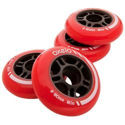 4 Rollen für Hockey-Inliner 80 mm 80A