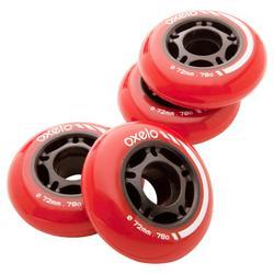 4 wielen inlinehockey 72MM 80A