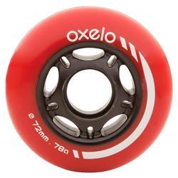 4 ruedas rollers 72 mm 80A
