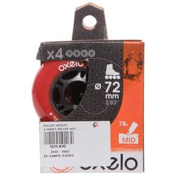 4 roues roller hockey 72MM 80A