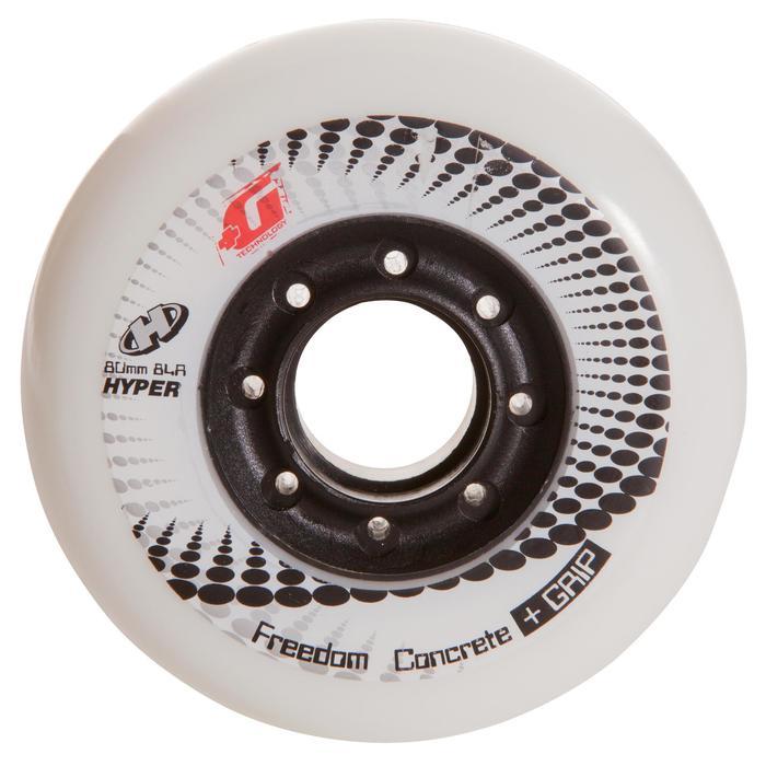 4 wielen Concrete freeride skates 80 mm 84A zwart of wit
