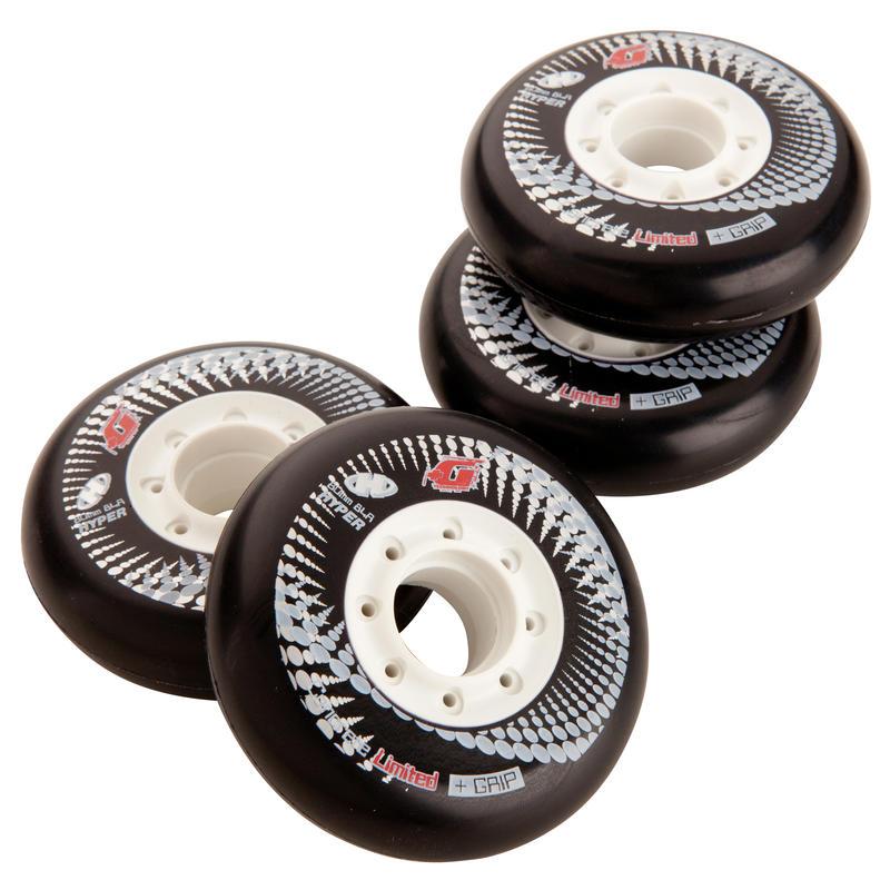 4 Concrete 80 mm 84A Freeride Inline Skating Wheels - Black or White