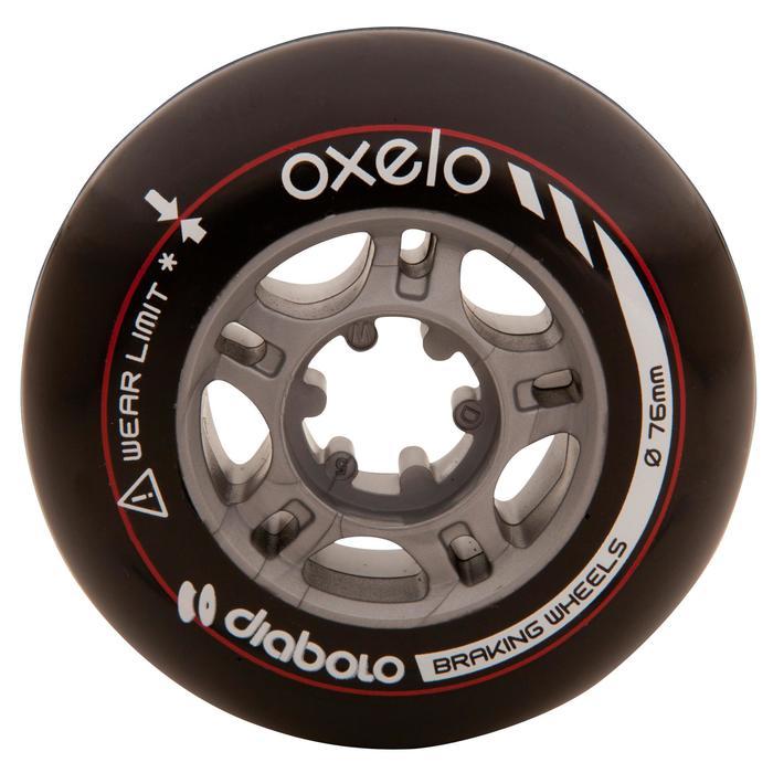 2 roues roller DIABOLO 76mm noires - 476967