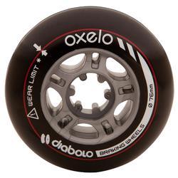 2 ruedas rollers DIABOLO 76 mm negro