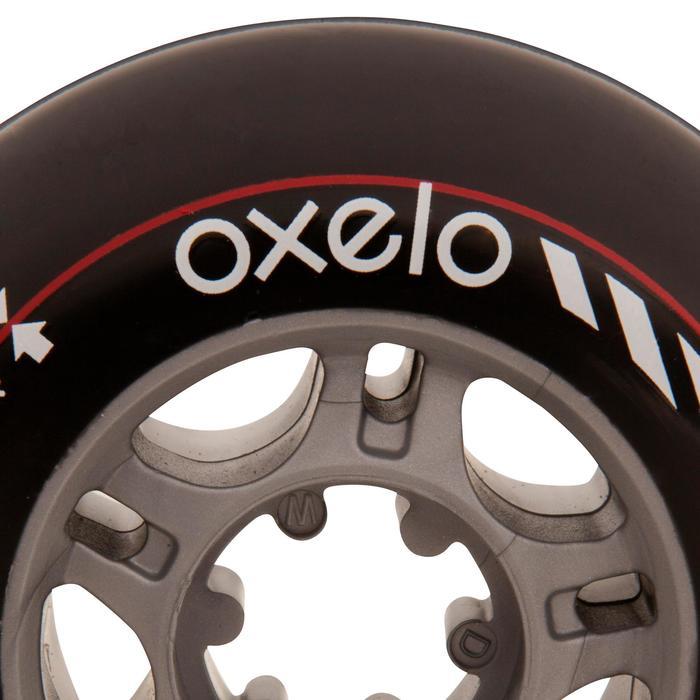 2 roues roller DIABOLO 76mm noires - 476969