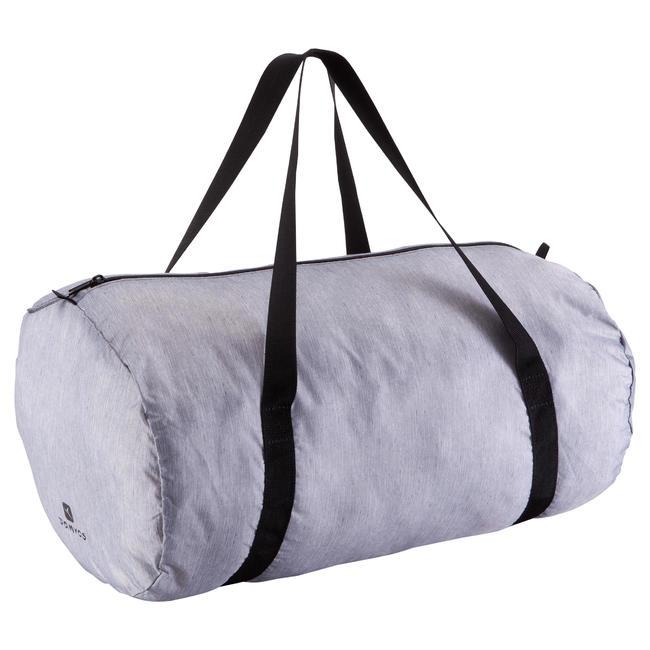 Foldable Fitness Duffle Bag 30L - Mottled Grey
