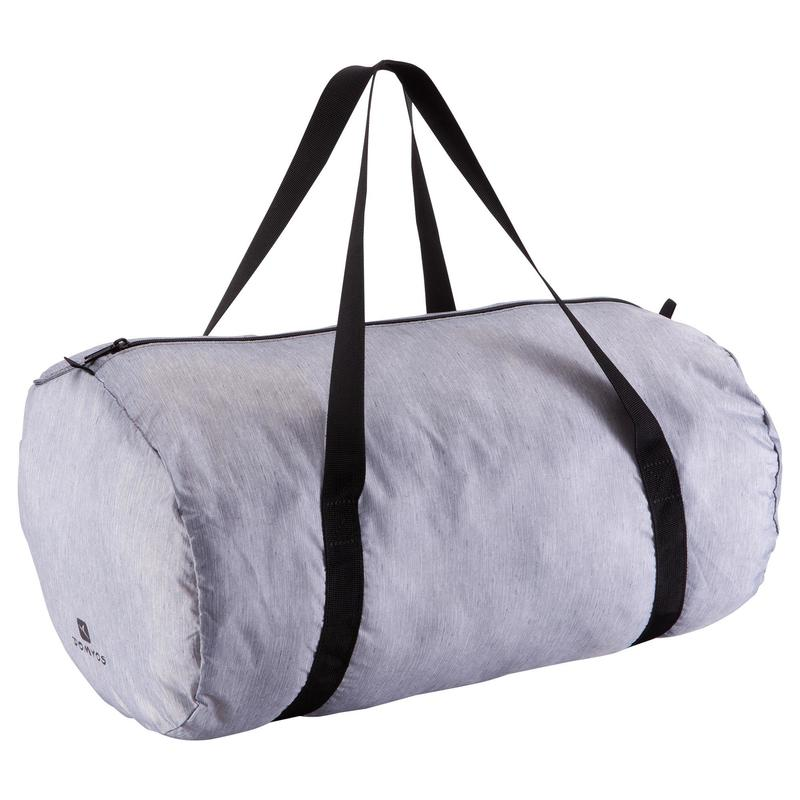 Medium Fold-Down Fitness Barrel Bag - Mottled Grey  80a89405b174d