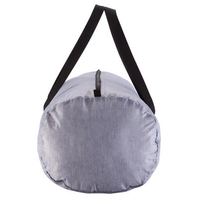 Medium Fold-Down Fitness Barrel Bag - Mottled Grey
