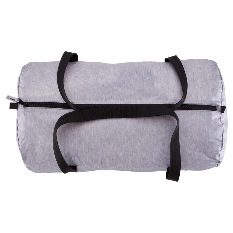 Medium Fold-Down Barrel Gym Bag - Mottled Grey