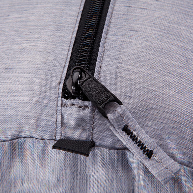 Medium Fold-Down Fitness Barrel Bag - Mottled Grey