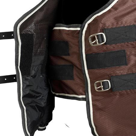 Chemise extérieur imperméable équitation cheval/poney ALLWEATHER LÉGÈRE marron