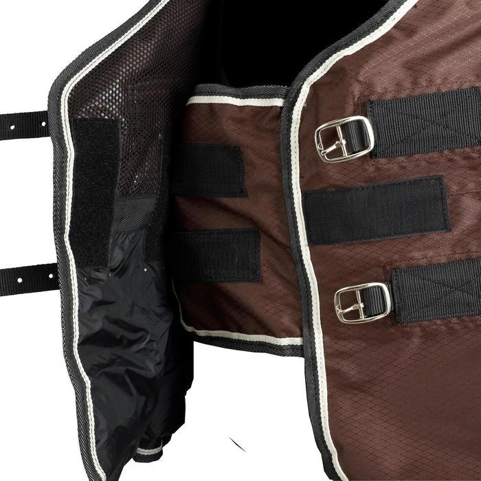 Manta Ligera Imperm Equitación Fouganza ALLWEATHER LIGHT marrón Poni y Caballo