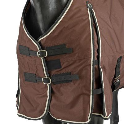 Manta ligera exterior imperm. equitación poni/caballo ALLWEATHER LIGHT marrón