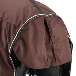 全天氣輕便馬術運動防水戶外馬衣馬匹和小馬駒- 棕色