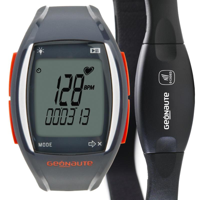 Montre et ceinture codée cardiofréquencemètre ONRHYTHM 310 rouge