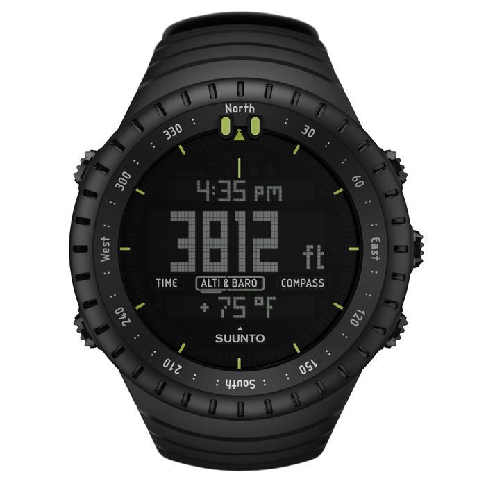 Outdoor-Uhr mit Höhenmesser Barometer und Kompass Core schwarz