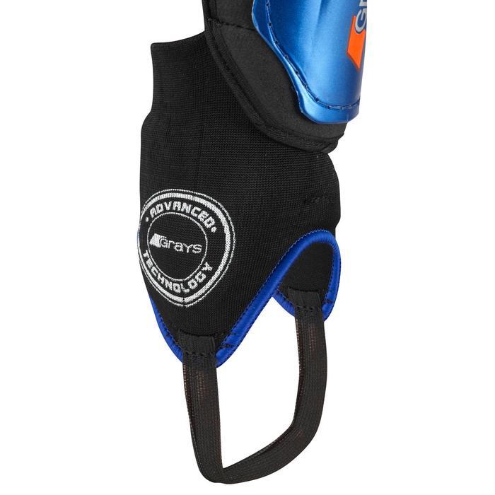 Schienbeinschoner Shield Feldhockey geringe Intensität Erwachsene blau