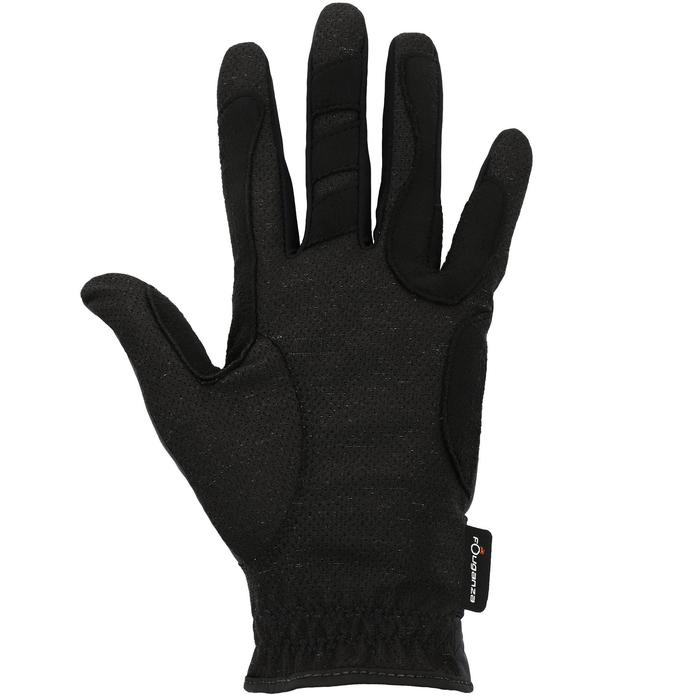 Rijhandschoenen Hexagirls voor dames ruitersport zwart