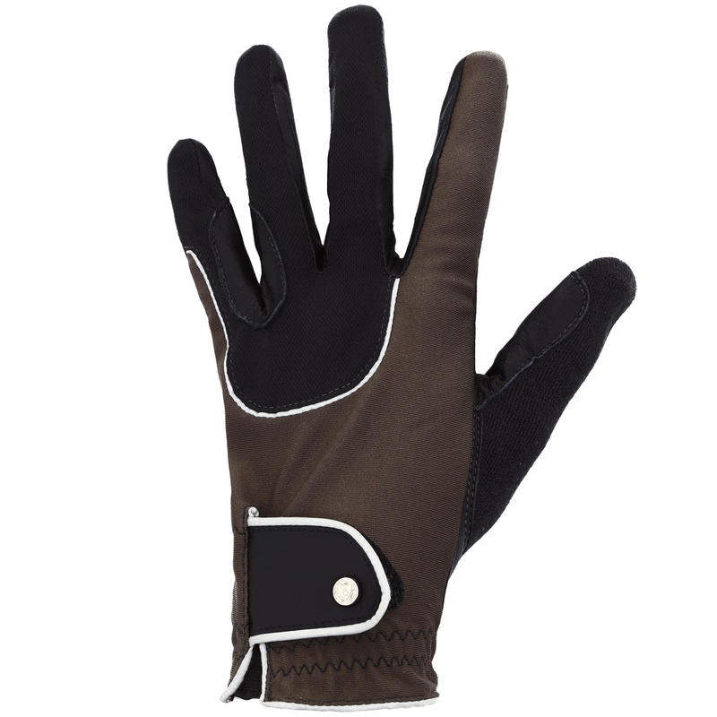 Guantes de equitación adulto PRO'LEATHER café