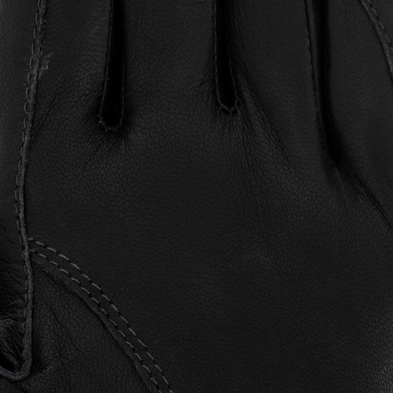 Pro'Leather Adult Horse Riding Gloves - Brown