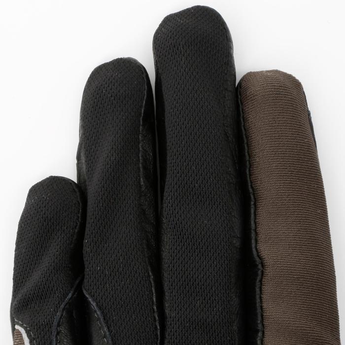 Paardrijhandschoenen PRO'LEATHER voor volwassenen - 4849