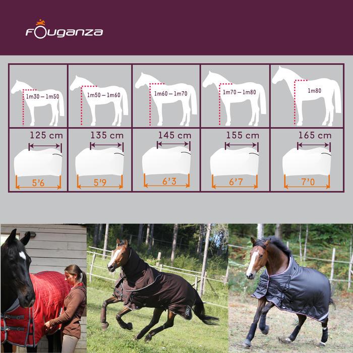 Manta Ligera Cuadra Equitación Fouganza Stable Light Marrón
