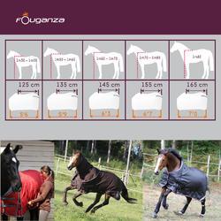Manta ligera de cuadra equitación poni y caballo STABLE LIGHT marrón