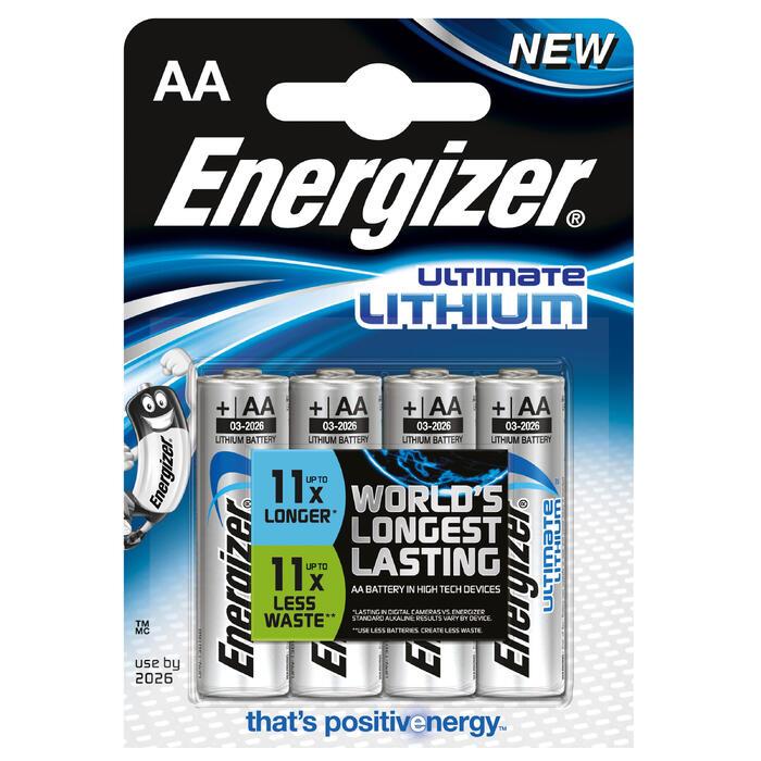 Lot de 4 piles ENERGIZER  AA-LR06 Lithium