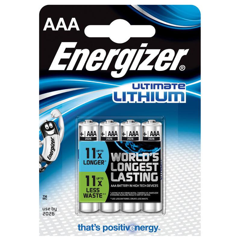 Set 4 Baterii Energizer LR3-AAA Litiu
