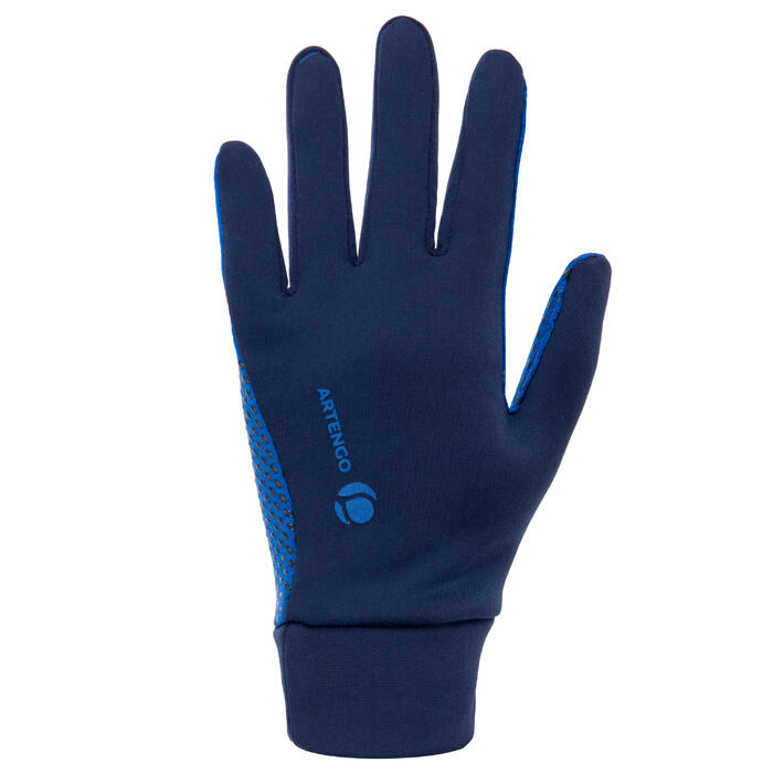 Thermo-Handschuhe Tennis Kinder marineblau