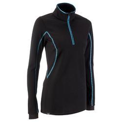 X WARM X WARM 女用滑雪底層衣 - 黑色 羊毛