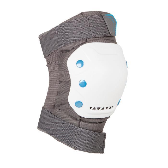 Set 3 protections roller skateboard trottinette adulte FIT 5 gris blanc