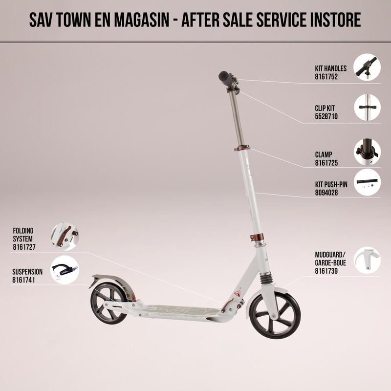 Xe trượt scooter Town 7 XL cho người lớn - Trắng