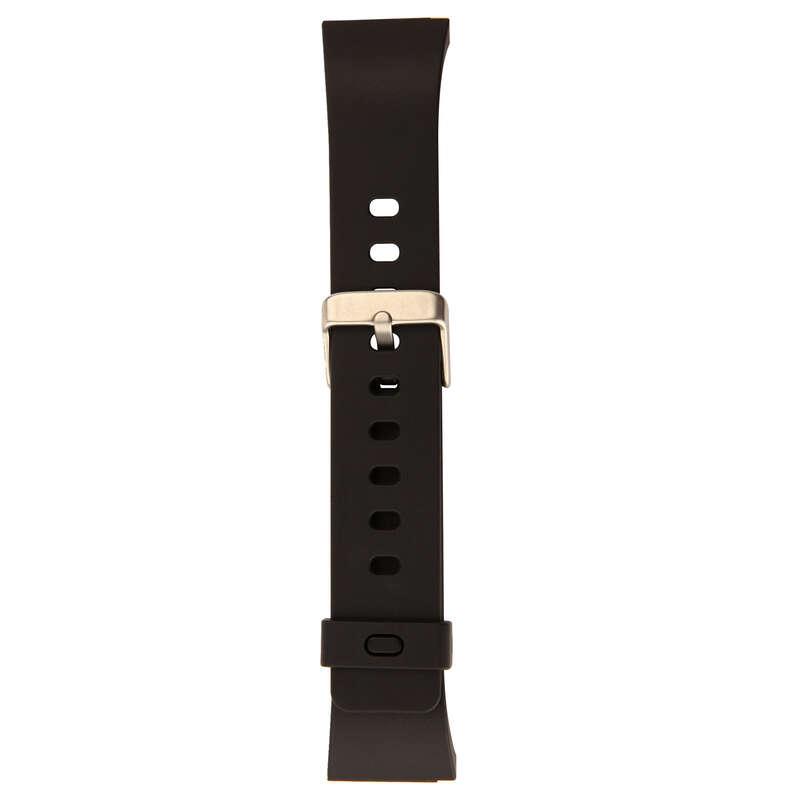 ATHLLE WATCHES OR STOPWATCHE Outdoor Equipment - STRAP M SWIP Watch Strap - Black KIPRUN - Navigational Equipment