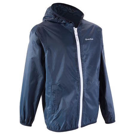 Rain-Cut Zip Children's Jacket - Blue