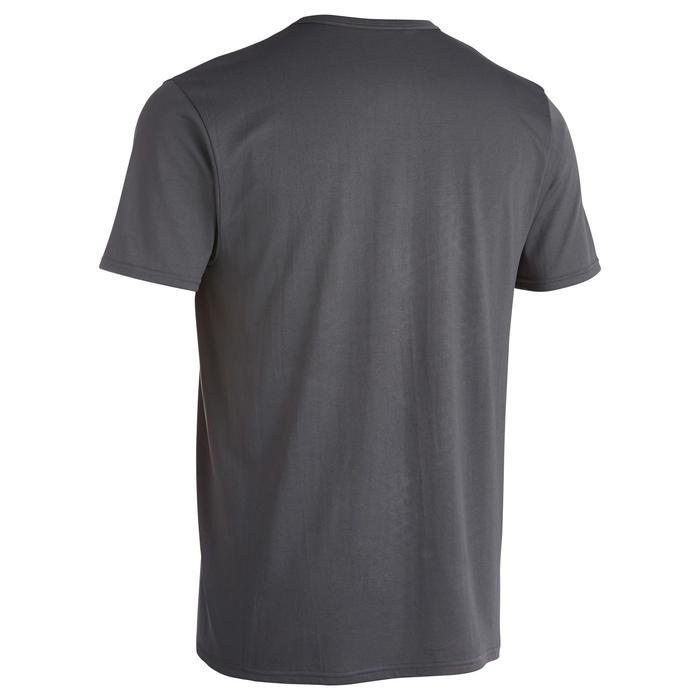 Fitness T-shirt FTS100 voor heren, voor cardiotraining, grijs