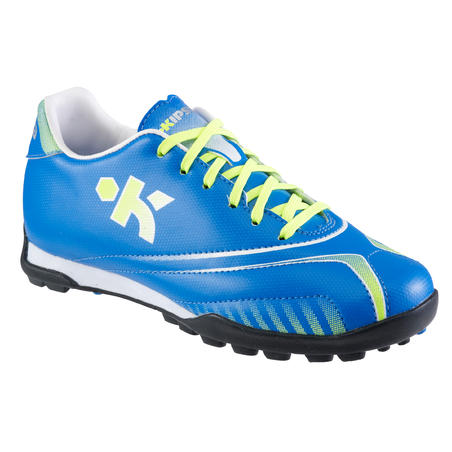 Agility 500 Kids Football Trainers Blue firm pitch