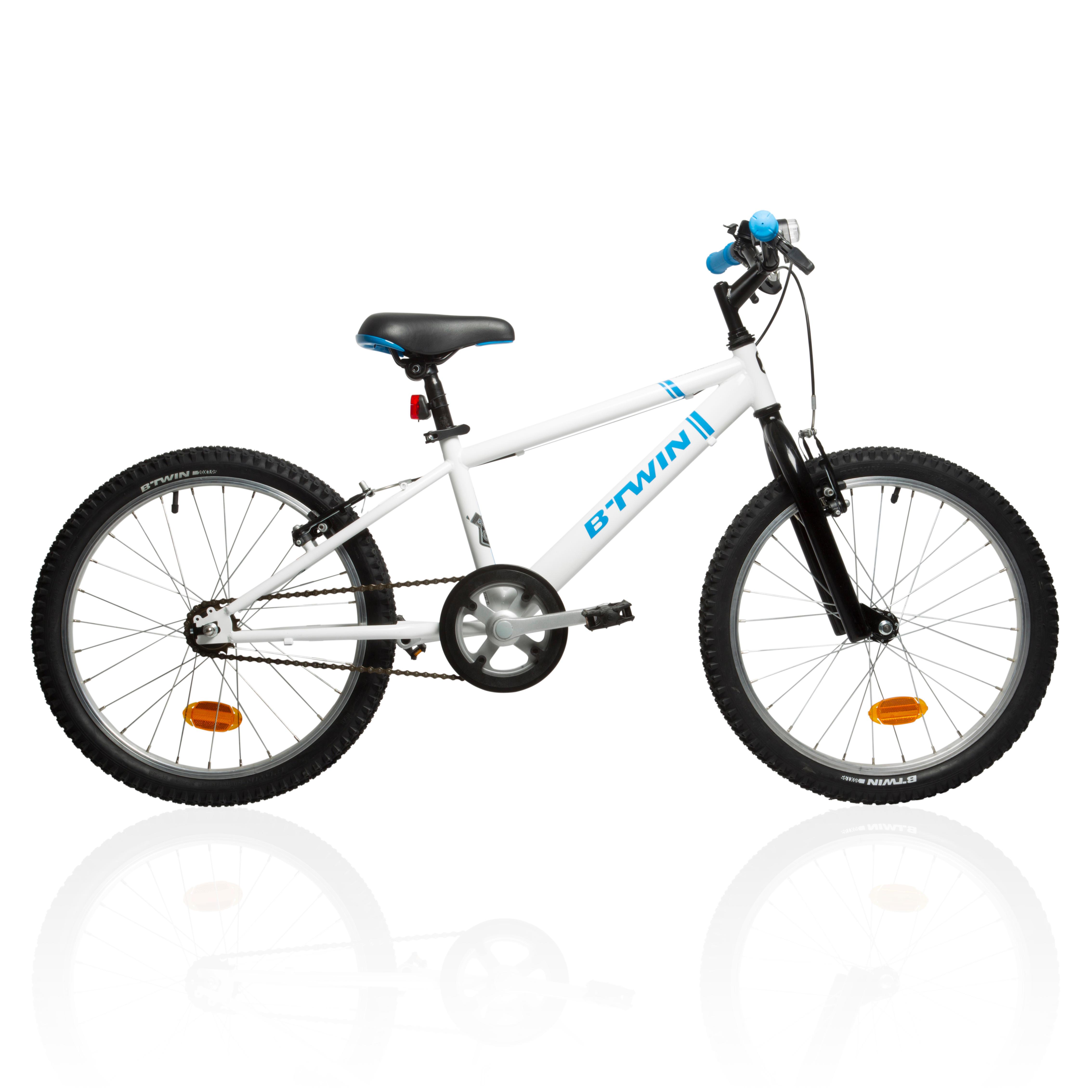 Vélo de montagne pour ENFANT 20 POUCES RACINGBOY 300 SINGLE BLANC