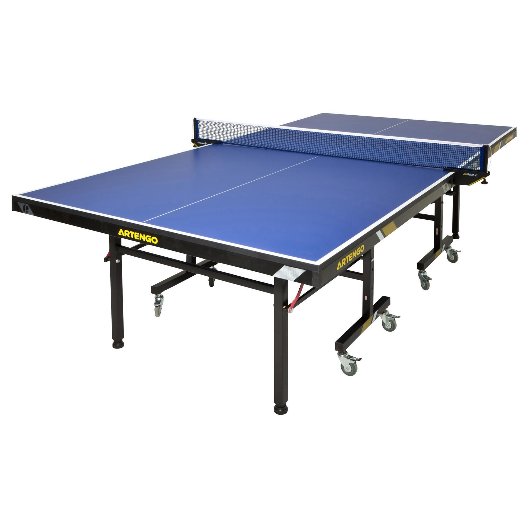 Tavolo ping pong ft950 omologato fftt azzurro artengo - Tavolo ping pong artengo ...