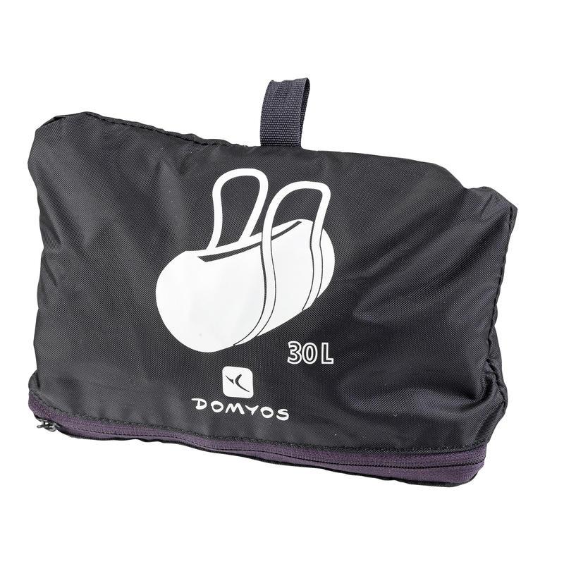 Bolso fitness cardio-training plegable 30 L negro