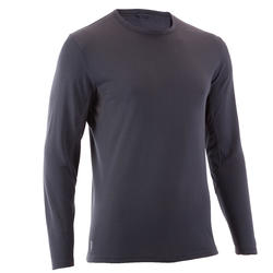 TechFRESH 50 Men's Long-Sleeved Hiking T-Shirt - Abu-abu Gelap