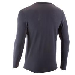 TechFRESH 50 Men's Long-Sleeved Hiking T-Shirt - Abu-abu Gelap