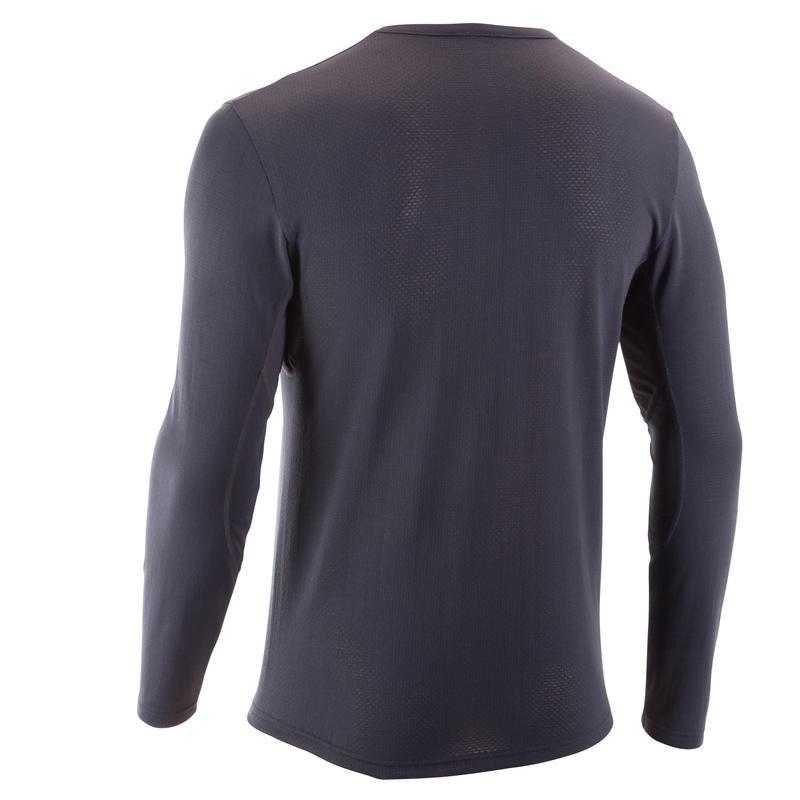 TechFRESH 50 Men's Long-Sleeved Hiking T-Shirt - Dark Grey