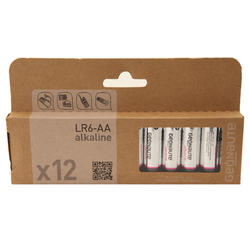 Pack of 12 LR06-AA 1.5V batteries