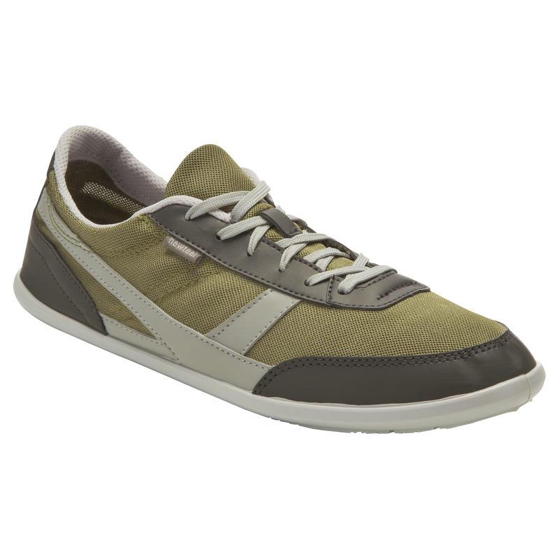 Chaussures marche quotidienne kaki / gris