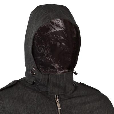Chaqueta de excursionismo para hombre RainWarm 600 Gris oscuro